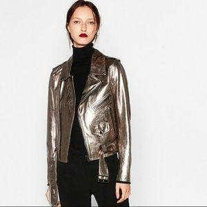 GORGEOUS Metallic Leather jacket